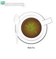 Uzbek Black Tea Popular Dink in Uzbekistan vector image vector image