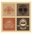 vintage grunge motor club and motorcycle league vector image vector image
