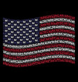 waving united states flag stylization of family vector image