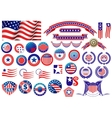 Patriotic American badges and labels vector image