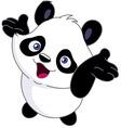 cheerful baby panda vector image