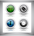 abstract glass buttons EPS10 file vector image