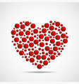 abstract heart of red circles vector image vector image