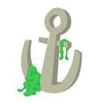 anchor icon cartoon style vector image