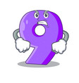 angry number nine balloon font shaped charcter vector image