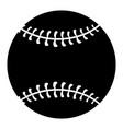 baseball equipment cartoon vector image