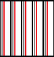 black grey and red stripes seamless pattern vector image vector image
