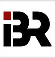 br ibr bir initials letter company logo vector image vector image