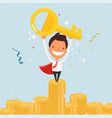 business cartoon character success vector image vector image