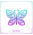 Butterfly Colored vector image vector image