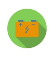 Car battery flat icon vector image vector image