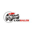 car sale or service icon logo for automotive indu vector image vector image