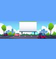 car street cinema with blank screen billboard