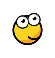 cartoon face icon in flat style smiley face on vector image vector image