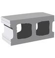Cement block icon vector image vector image