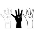 child hand vector image vector image