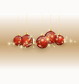 christmas ball on colored background vector image vector image