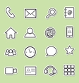 communication sticker icons vector image vector image