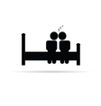 couple on bed icon vector image vector image