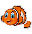 Cute clown fish cartoon vector image vector image