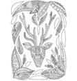 Deer abstract vector image vector image