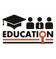 education symbol with award vector image vector image