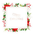elegant floral merry christmas new year 2021 card vector image vector image