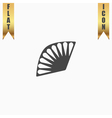 Fan icon isolated vector image