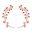 floral wreath isolated icon design vector image