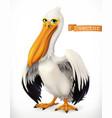 funny pelican 3d icon vector image vector image