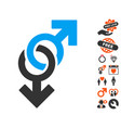 gay symbol icon with lovely bonus vector image vector image