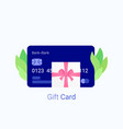 gift bank card and present with pink ribbon vector image