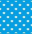 graduation cap pattern seamless blue vector image vector image