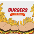 Hamburger digital design vector image vector image