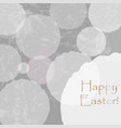 happy easter congratulations card with white vector image