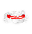 happy new year sale background design with paper vector image