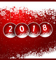 happy new year snowy background vector image vector image