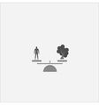 Human concept People and tree on the scales vector image
