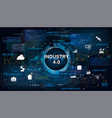 industry 40 concept bannerv vector image