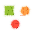 letters A B C in different style vector image vector image
