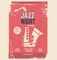 musical poster in retro style invitation vector image vector image