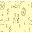Old light sources seamless pattern on beige yellow vector image vector image