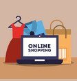 online shopping commerce vector image vector image