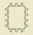 ornament decorative frame 08 vector image vector image
