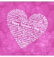 Pink heart on Valentines Day vector image