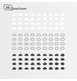 PrintBig set of thirty-six cloud shape vector image vector image