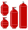 red gas tank icon set vector image