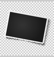 retro realistic photo frame with figured edges vector image vector image