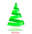 Ribbon Christmas tree vector image vector image