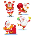 Santa Clauses set for christmas vector image vector image